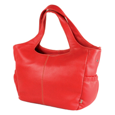 Win an OiOi Red Leather Tote worth £199