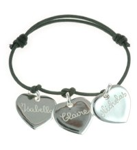 Women's Personalised Charm Bracelet - Hearts